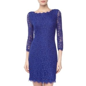 Diane von Furstenberg blue zarita dress size 6